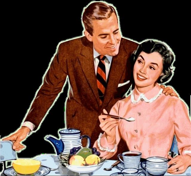 šťastný pár u čaje