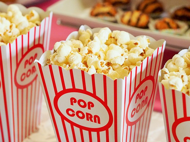 popcorn v kině
